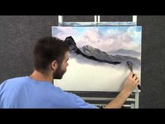 Paint with Kevin Hill - Frosty Morning wet on wet HD - YouTube