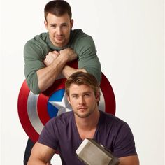 Captain America and Thor <3