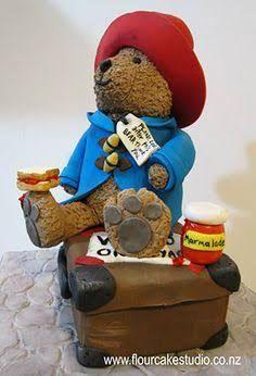 Image result for paddington bear birthday cake Paddington Bear Party, Bear Birthday, Birthday Cakes, Bear Cakes, Cake Flour, Fabulous Foods, Themed Cakes, No Bake Cake, Cake Decorating