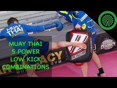 muay thai low kick combos
