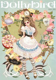 """""""Alice In Wonderland"""" by manga artist Hiromi Matsuo."""