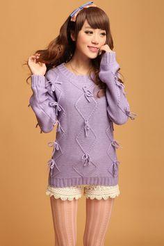 $28.21 Korean bow sweater B225