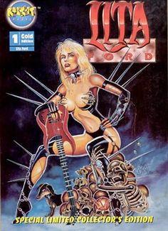'Lita Ford: Queen of Heavy Metal' – Worst Music Comic Books Fille Heavy Metal, Heavy Metal Girl, Heavy Metal Music, Lita Ford, Music Artwork, Art Music, Pop Rock, Rock And Roll, Punk Rock Girls