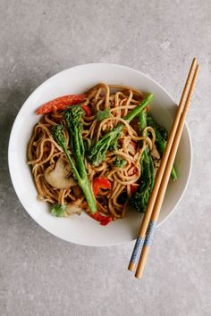 Spicy Tenderstem and Peanut Noodle Stir Fry