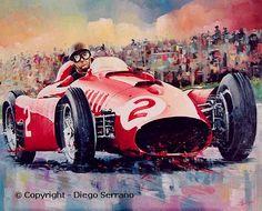 Diego Serrano, Racing Car Design, Its A Mans World, Car Illustration, Car Drawings, Automotive Art, Car Painting, Art Cars, Concept Cars