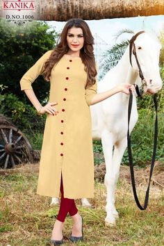909674c75ff9 2019 Latest Fashion Solid Rayon Kurti for Women by Kanika (Begie). Online  Shopping ...