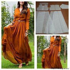 Sewing techniques dress how to make 67 Ideas Hijab Fashion, Diy Fashion, Womens Fashion, Fashion Design, Dress Sewing Patterns, Clothing Patterns, Long Dress Patterns, Diy Clothing, Sewing Clothes