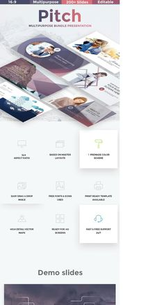 """Check out my @Behance project: """"Pitch Multipurpose Google Slide Template"""" https://www.behance.net/gallery/59044017/Pitch-Multipurpose-Google-Slide-Template"""