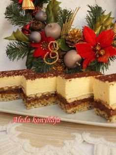 Parlament sütemény Cookie Recipes, Dessert Recipes, Delicious Desserts, Yummy Food, Eat Pray Love, Christmas Dishes, Sweet Cookies, Cake Bars, Hungarian Recipes