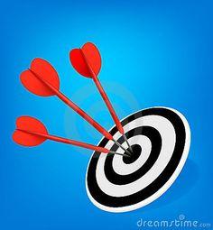 Red Darts Hitting A Target. Stock Vector - Illustration of circle, aspirations: 19618914 Flyer Maker, Darts, Target, Success, Concept, Illustration, Red, Illustrations, Dart Flights