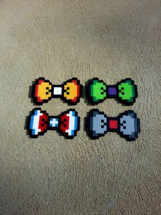 Avengers Themed Hair Bow or Bow Tie perler beads by BurritoPrincess