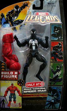 Marvel Legends Red Hulk Series Black Costume Spider-Man