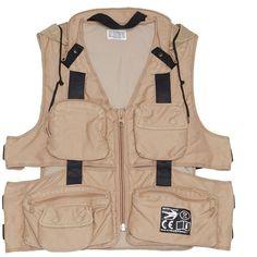 Cav Empt Utility vest ($606) ❤ liked on Polyvore featuring outerwear, vests, utility vests, beige vest, cav empt, pocket vest and vest waistcoat