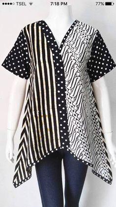 Black n White Dot Line Batik Blazer, Blouse Batik, Batik Dress, Batik Solo, Amarillis, Batik Kebaya, Stylish Dress Designs, Batik Fashion, Brokat