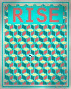 a motivational 3D poster