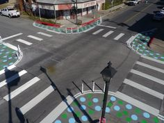 Polka Dots Help Pedestrians Reclaim Space in Austin! All it takes is a willing community and some paint. Beautiful Architecture, Landscape Architecture, Urban Landscape, Landscape Design, Urban Design Diagram, Urban Intervention, Public Realm, Built Environment, Healthy Environment