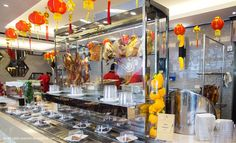 Chef Man, Bangkok's fine-dining Chinese king, has gone mass with buffet restaurantMan Kitchen. Here, the vast cooking area takes over one side of the whole place, where chefs prepare a huge array of hot and cold appetizers, Chinese barbecue, steamed and fried dim sum and stir-fries.