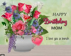 Super Gorgeous card to wish your Mom a very happy birthday !