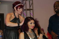 INDIE Team styling at Scruples Symposium. This stylist can sing her butt off. Such a good time ;)