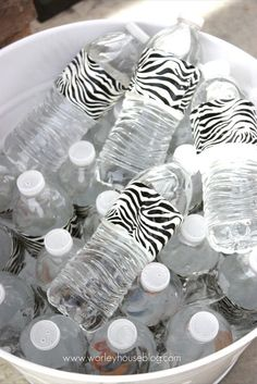 dress up a water bottle with duct tape!