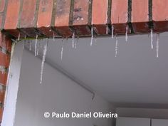 Stalactites at the entrance of the dormitory