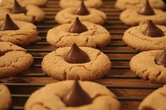Peanut butter cookies with Hershey kisses in the middle ^.^ yumm