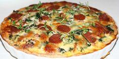Fuldstændig fantastisk tærte med chorizo, spinat og rødløg. Kan i høj grad anbefales.