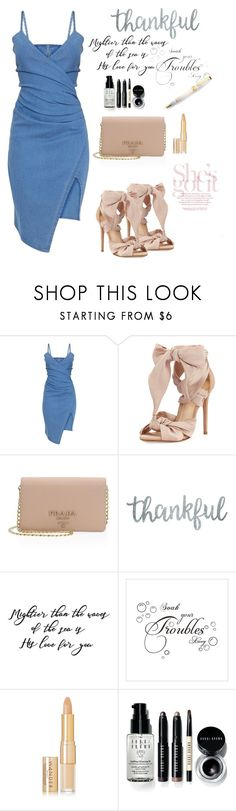 """Jean"" by korneliatheocharid ❤ liked on Polyvore featuring Alexandre Birman, Prada, Wander Beauty and Bobbi Brown Cosmetics"
