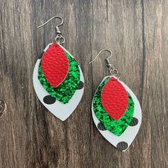 """Want to add some sassiness and fun to your outfit, if so grab a a pair of these triple layer faux leather earrings. All earrings are super lightweight for everyday wear.Size: 2 5/8"""" x 1 2/8"""" - drop 3 3/4"""" Leather Earrings, Retirement, Sassy, Crochet Earrings, Size 2, Layers, Drop, Outfit, Fun"""