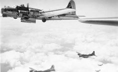384th Bomb Group B-17 Bombers Over Target with Bomb Bay Doors Open