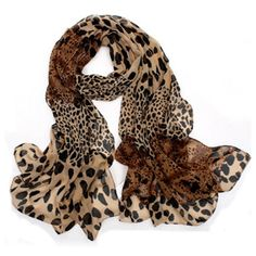 Leopardo Sciarpa Ultra Long Chiffon Scarf (1.47 CAD) ❤ liked on Polyvore featuring accessories, scarves, long chiffon scarves, chiffon scarves, chiffon shawl, long scarves and oblong scarves