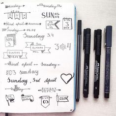 Daily header ideas for you, guys:) . #bujo #bulletjournal #bulletjournaling…