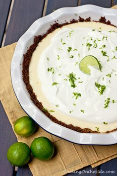 Key Lime Greek Yogurt Pie. Key lime Greek yogurt is my favorite flavor. I'm literally salivating right now!