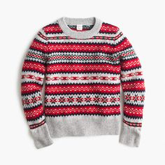 J.Crew Womens Holly Sweater In Fair Isle (Size