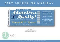 A personal favorite from my Etsy shop https://www.etsy.com/listing/535048428/airplane-boarding-pass-invitation-baby