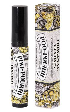 Poo Pouri is a GREAT poop spray! I'll never buy a traditional bathroom spray again. Combine essential oIls & water to make your own Poo Pourri recipe. Poo Pourri, Poop Spray, Toilet Spray, White Elephant Gifts, Travel Size Products, Decoration, Deodorant, Bath And Body, Essential Oils