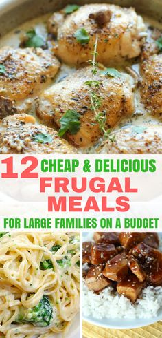 12 Cheap & Delicious Frugal Meals for Large Families on a Budget | How to Live Frugal | Frugal Living | #howtolivefrugal #frugalliving