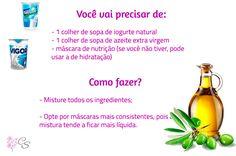 nutrição com iogurte natural e azeite