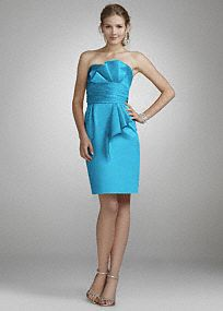 Make the perfect first impression in this gorgeous strapless satin ensemble!  Strapless satin dress is classic and sexy.  Ruched matching sash cinches the waist creating a slimming silhouette.  Dress features sash with Obi detail for a unique look.  Fully lined. Back zip. Imported. Dry clean only.  Select colors are on sale. Please click color and size to view pricing