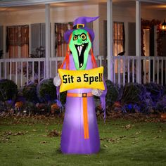 airblown inflatables spell witch walmarthalloween 2014witchesdecor - Walmart Halloween Decorations