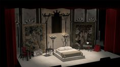 Sarah Martin   3D Portfolio » Hamlet Stage Set