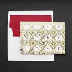 Duchess of Cameron: Letterpress LOVE MORE Card, Gold