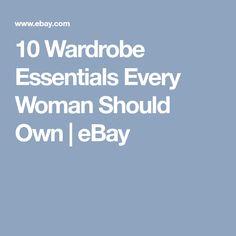 10 Wardrobe Essentials Every Woman Should Own   eBay