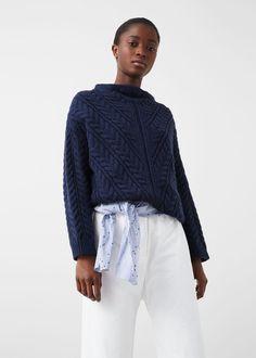 Jersey lana textura - Cárdigans y jerséis de Mujer   MANGO España