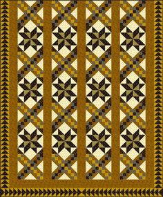 "Civil War Quilt Pattern  By Janet Wickell Use my quilt pattern to make a stripy set quilt that's reminiscent of Civil War era designs...Finished Block Size: 12"" x 12"" (the square blocks: Frayed Sawtooth Star and Pinwheel Star) Finished Quilt Size: 76"" x 92"""