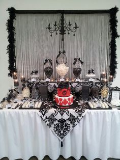 Black and White Birthday Party Ideas | Photo 1 of 12 | Catch My Party