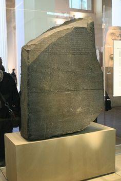 Rosetta Stone, British Museum, London.  We spent hours here.