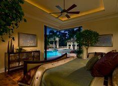Bedroom at home in Disney's Golden Oak resort.