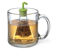 A Beaker-Shaped Tea Infuser for Making Deliciously Scientific Beverages