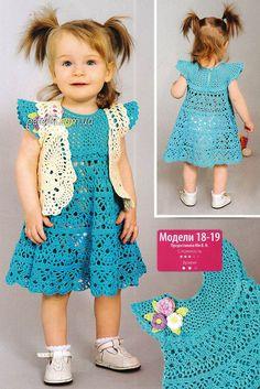 Платье и болеро крючком для годовалой девочки. Описание, схемы